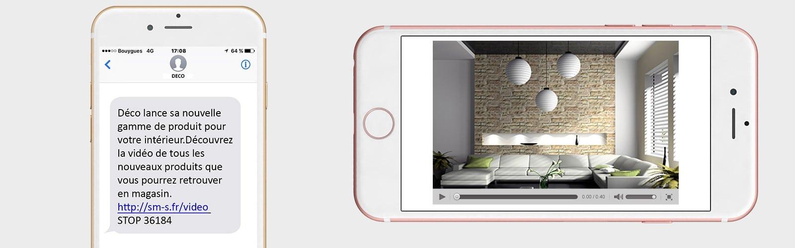 Comment intégrer une vidéo dans un SMS commercial ?