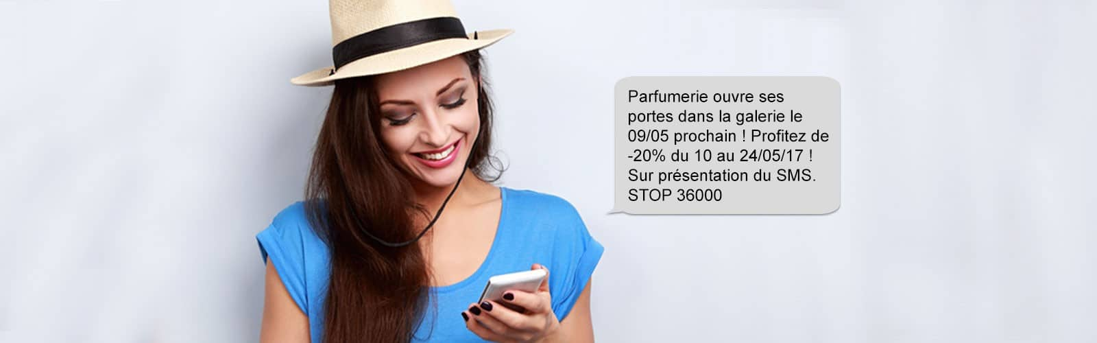 SMS Ouverture magasin