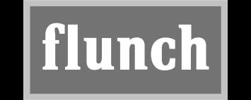 logo flunch en noir et blanc
