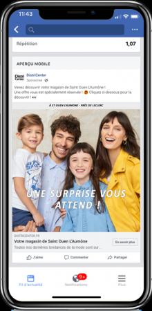 smartphone pour la campagne districenter facebook
