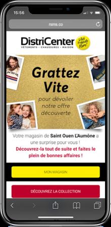smartphone pour la campagne districenter sms