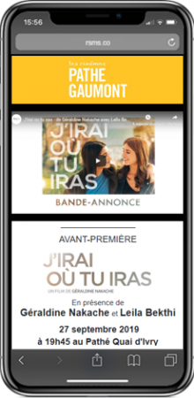 business case pathe ivry site mobile