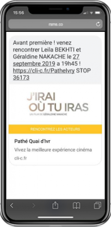 business case pathe ivry sms preview
