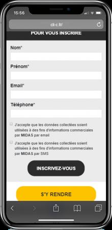 IphoneX-LP-midas bas du site mobile