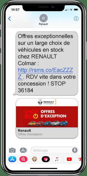 SMS renault campagne or digilocales